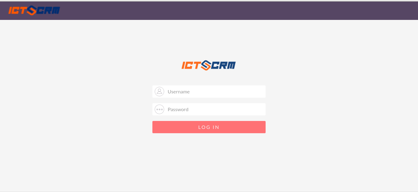Unifeid-Communication-ICTCRM, Login-into-ICTCRM