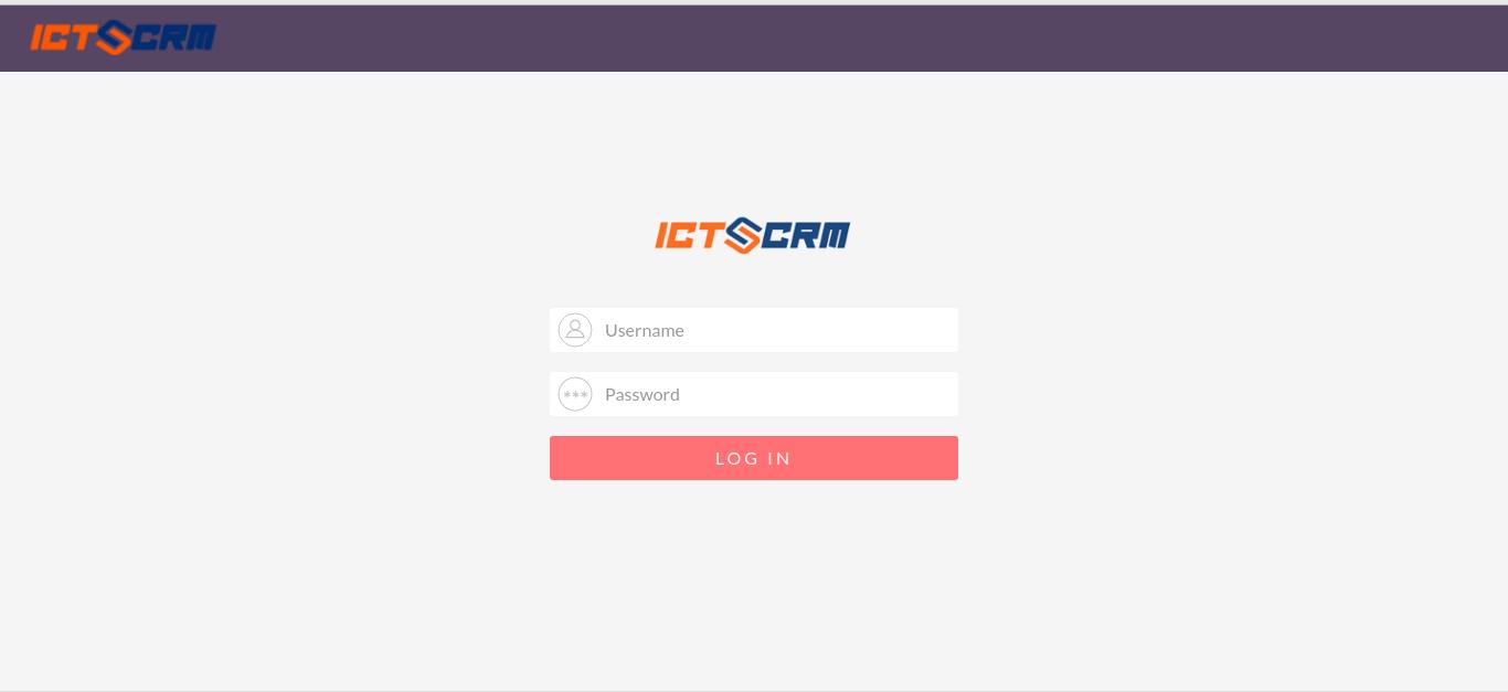 Unifeid-Communication-ICTCRM, Login-into-ICTCRM